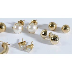 Group of 14kt. Earrings
