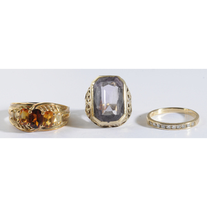 Three 14kt. Rings