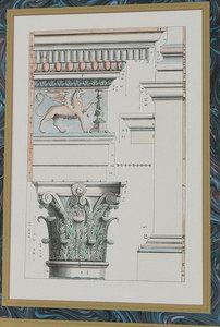 Six Decorative Textile and Architectural Prints