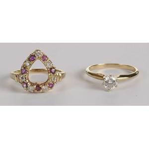 Two 14kt. Diamond Rings