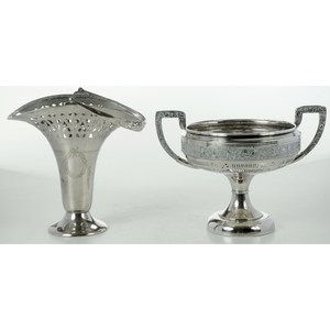 Two Pieces Silver-Plate Hollowware