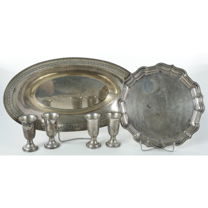 Six Pieces Sterling Table Items