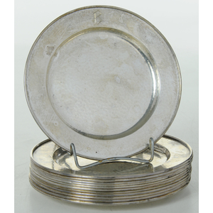 Set of 12 Sterling Plates