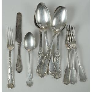 Ten Pieces Tiffany Silver Flatware