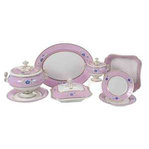 71 Pieces Flight, Barr & Barr Dinner Service