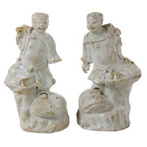 Two Porcelain Nanking Cargo Figures