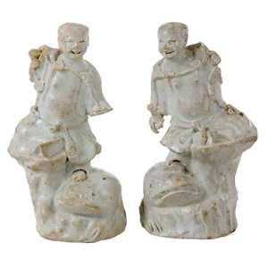 Two Porcelain Nanking Cargo Figures