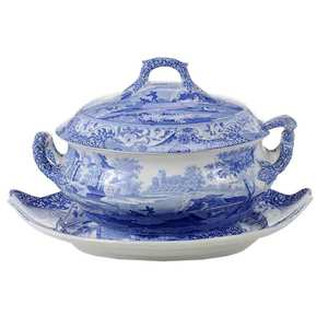 Spode Camilla Tureen and Underplate with Ladle