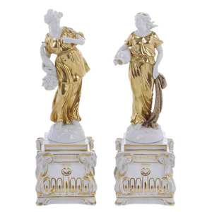 Pair Potschappel Porcelain Figures