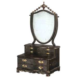 Chinese Export Lacquer Dressing Mirror