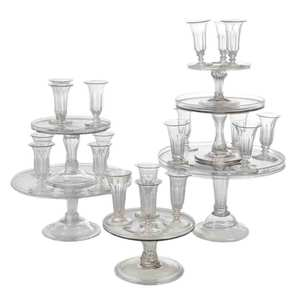 Syllabub Glasses With Six Stands