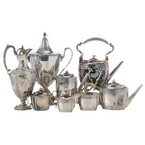 Eight Pieces Silver-Plate Hollowware