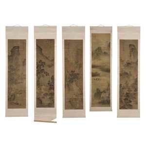 Five Chinese Scrolls
