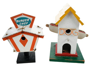 Randy Sewell Attributed Folk Art Birdhouses