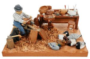 W.B. Sheerman Woodcarving Diorama