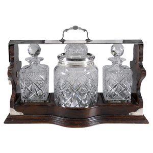Dorflinger Brilliant Period Cut Glass Tantalus