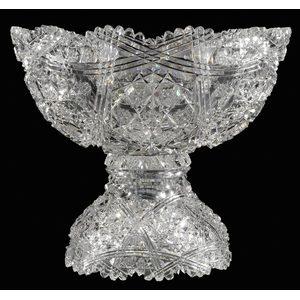 Egginton Brilliant Period Cut Glass Punch Bowl