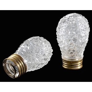Two Hoare Cut Glass Electric Light Radiators