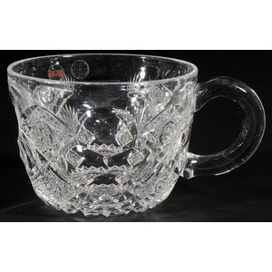 Hawkes Cut Glass Punch Bowl, Cups