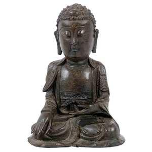 Asian Bronze Seated Buddha
