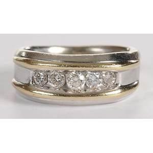 14kt. Diamond Gentleman's Ring