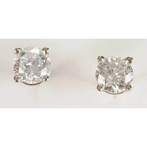 14kt. Diamond Stud Earrings