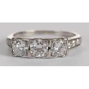 18kt., Platinum & Diamond Ring