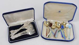 Twenty-four Pieces Sterling Flatware