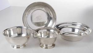Four Sterling Bowls