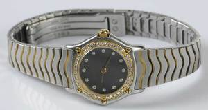 18kt. Diamond & Stainless Steel Ebel Watch