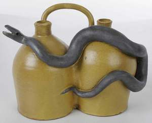 Marvin Bailey Double Snake Jug