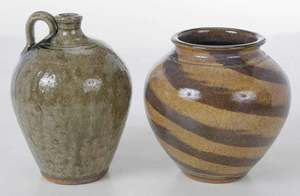 Two Pieces Kim Ellington Pottery