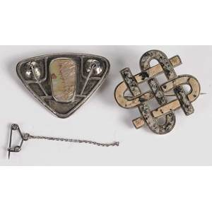 Two Silver Brooches*