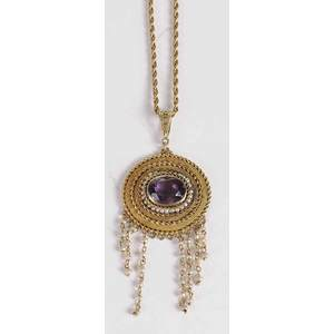 14kt. Amethyst Pearl Necklace*