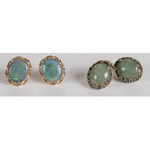 Two Pairs 14kt. Earrings