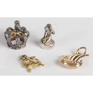 Group of Gold and Silver Charms