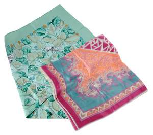 Two Silk Scarves, One by Hermes