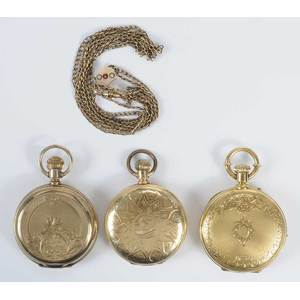 Three Gold Filled Pocket Watches
