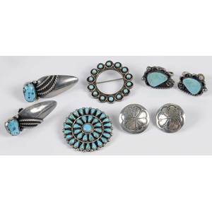 Group of Silver Southwestern Jewelry