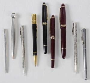 Nine Mont Blanc, Parker, Tiffany, Other Pens