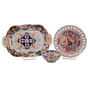 Three Pieces Imari Porcelain