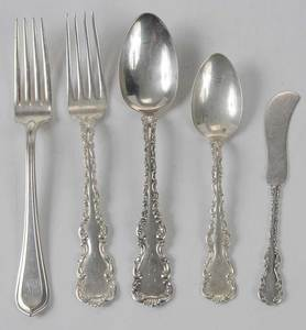 32 Pieces Louis XV Sterling Flatware