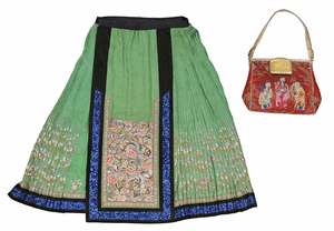 Chinese Silk Purse and Skirt