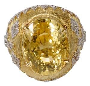18kt. Sapphire & Diamond Ring