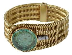 18kt. Emerald & Diamond Covered Watch