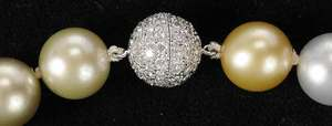 18kt. Pearl & Diamond Necklace