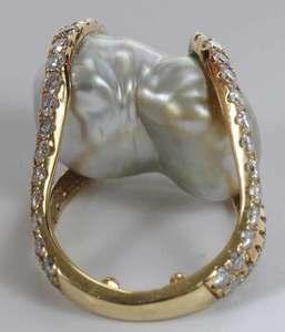 18kt. Diamond & Pearl Ring