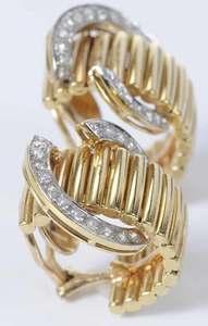 Emis 14kt. Diamond Earclips