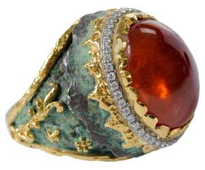 24kt. & Silver Gemstone Ring