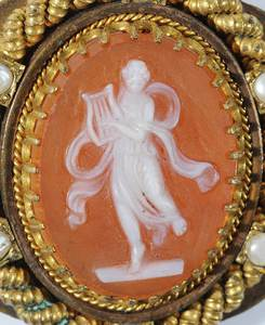 Cameo Mourning Brooch/Pendant